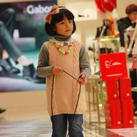 最想编织的儿童毛衣之棒针女童背心裙式毛衣织法图解