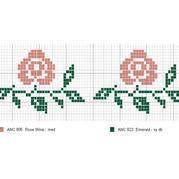 棒针提花图样——两朵小花