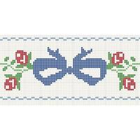 棒针提花图样——蝴蝶结和花朵