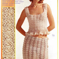 夏日美美的钩针长裙欣赏