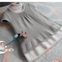 儿童毛衣编织款式之简约欧美大牌范儿棒针婴幼儿超可爱背心裙织法教程