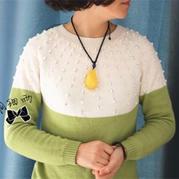 女士毛衣款式之棒针萌芽从下往上织女士圆肩套头毛衣实例教程