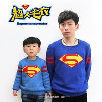 最想编织的儿童毛衣新款之棒针男童男孩款超人毛衣(2-2)