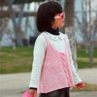 女童韩式棒针毛线背心编织图解