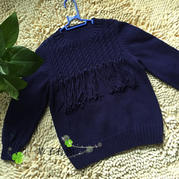 云棉2棒针流苏儿童毛衣编织实例教程