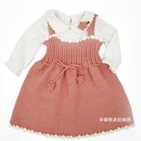 宝宝春季吊带裙奶棉裙 手工编织儿童毛衣视频教程