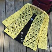女士春夏编织款式之钩针菠萝花样百搭开衫