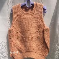 儿童棒针韩版毛衣之宝宝系扣背心编织教程