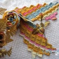 """异域风情的""""多米诺骨牌""""围巾的织法图解"""