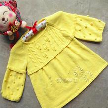 儿童春秋编织服饰之之云棉2棒针儿童裙衣