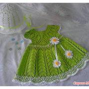 女童夏装钩针连衣裙