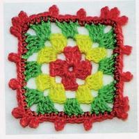 方形花朵 織法教程 毛衣花樣圖解 視頻教程-編織人生圖片