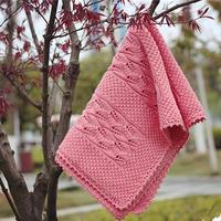 棒针毛线毯子编织图解之云棉2叶子花毯子