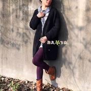 适合新手编织的女士棒针毛衣款式之时尚休闲外套开衫毛衣