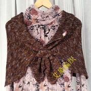 棒针披肩编织款式之春夏秋冬四季适用的蝴蝶披肩