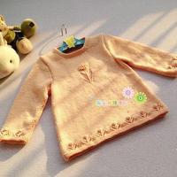 0-3岁宝贝服饰编织之云棉2棒针婴幼儿圆领小花毛衣