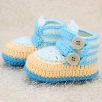 帅气舒适的高帮宝宝学步鞋编织视频教程(2-1)