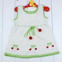 宝宝毛衣编织视频之可爱的小草莓裙衫织法教程(2-2)