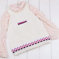 (3-1)棒针可爱裙摆背心织法之零基础学编织儿童毛衣