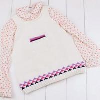 (3-3)棒针可爱裙摆背心织法之零基础学编织儿童毛衣