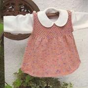 小童棒针段染可爱背心裙