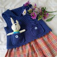 织宝宝毛衣教程之棒针可爱翻领小背心织法