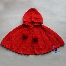超可爱的人气宝宝毛衣之钩针婴幼儿连帽披肩斗篷