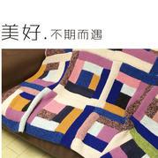 旧毛衣变废为宝好织好看棒针几何图案沙发毯