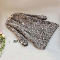 新手轻松可织的时尚女士棒针大毛衣式长袖连衣裙