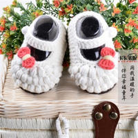 公主蝴蝶结泡泡鞋之女宝宝鞋的钩法视频