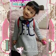 适合4-5岁宝宝穿的学院风儿童棒针连衣裙织法教程