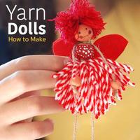 毛线创意之如何用少量毛线制作可爱精灵人偶娃娃挂饰