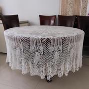 从中心开始织棒针桌布之孔斯特艺术蕾丝桌布