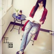 LK150编织机作品~~【左右】~~醉袍