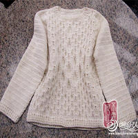 钩出棒针效果的儿童毛衣编织款式之百搭套头毛衣