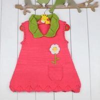 儿童毛衣编织视频教你织宝宝小翻领棒针背心裙(4-1)