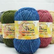 编格尔PE-885棉羊毛 秋冬线围巾披肩线中细手编毛线