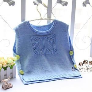 儿童毛衣编织教程之云棉2棒针宝宝系扣背心