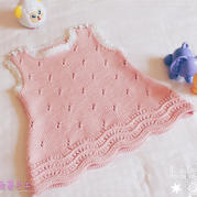 云棉2毛衣编织款式之0-3岁宝宝棒针肩开扣A字背心裙
