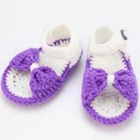 蝴蝶结小鞋子之一天可完成钩针宝宝鞋钩法视频教程