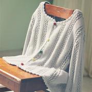 儿童毛衣编织款式之云棉2棒针女童圆领开衫