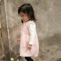 手工编织儿童春季毛衣款式之棒针女童简约背心裙