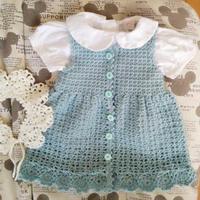 韩版宝宝毛衣织法之1-2岁可爱宝宝钩针背心裙