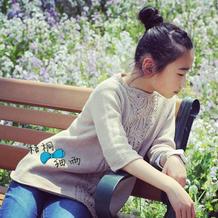 儿童春夏毛衣编织款式之云棉2女童棒针中袖A字套头毛衣