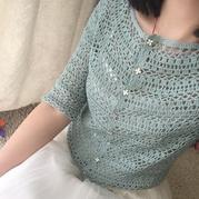 当亚麻棉遇上小仙裙 令人期待的从上往下钩女士春夏钩衣款式