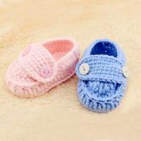 宝宝毛线鞋编织视频之1天就能完成的简单可爱钩针宝宝鞋