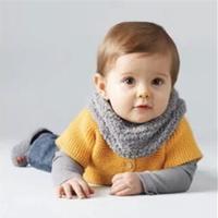 新手学织毛衣视频教程教你织时尚简约宝宝小短袖和围脖(3-3)