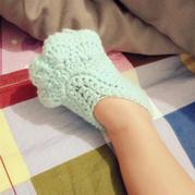 萌可爱的钩针宝宝鞋之喵爪鞋钩法图解