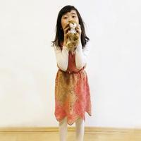 毛线球2012年夏季号拼花吊带裙改版一线连儿童钩裙