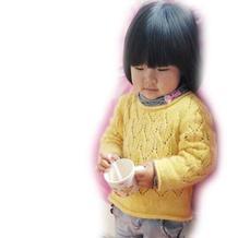 手工编织儿童毛衣图解教程之女童春日棒针罩衫